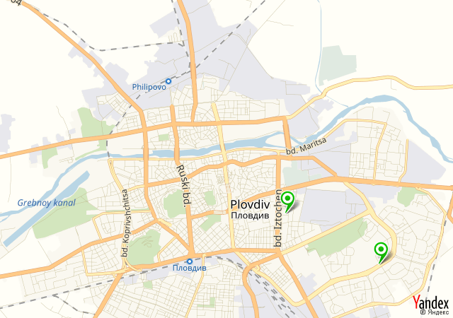 Yandex Map of 24.7507,42.1526